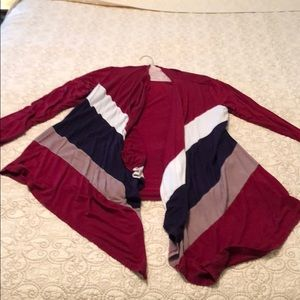 Red, white, and blue striped flowy Tunic